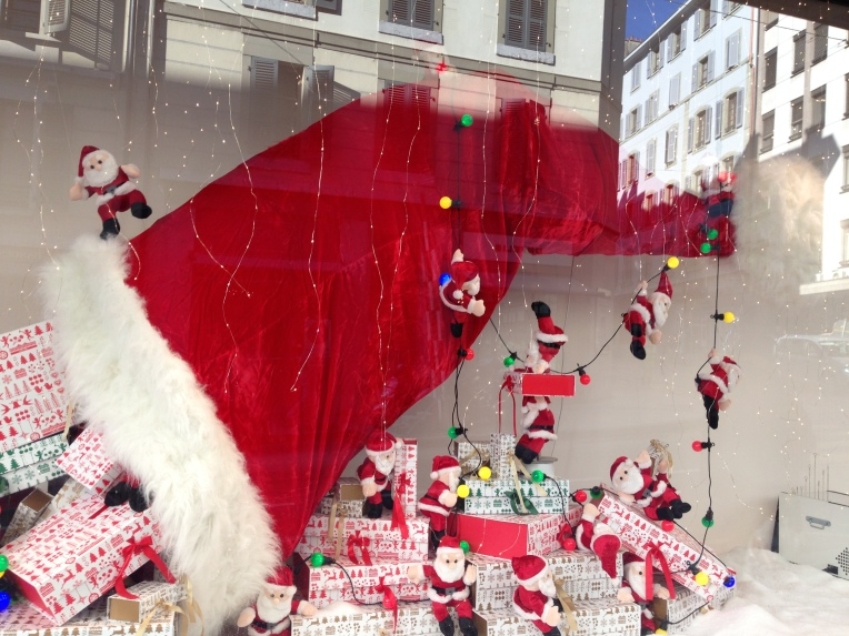 The window display in Manor department store. It's not December yet!