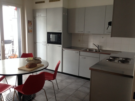 Yes, it's the kitchen, but after the cleaning lady's been at it. I've never seen it so clean - thank you cleaning lady!