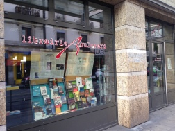 The Librairie Boulevard, a cute little bookshop close to the university.