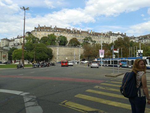 Place de Neuve, near Parc Bastions.