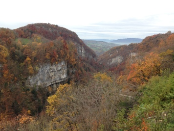 The view of the valley. I'm pretty sure that autumn is prettier in France/Switzerland than in the UK.