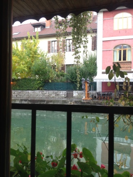 We went to a really pretty restaurant, right on the edge of the canal.