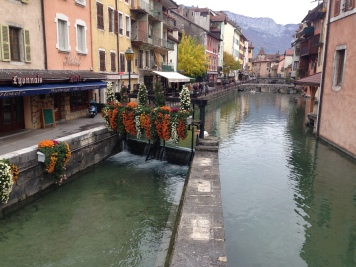 One of the canals in Annecy - you can easily see how it got its nickname!