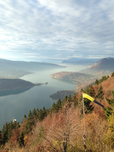 A view of the Lac d'Annecy from the nearby mountains. Actually, if you squint, you can see Annecy on the other side of the lake.