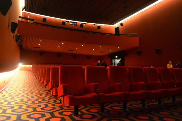EDIT: I finally found a picture of Cinerama Empire to put in here! Isn't it awesome? And yes, that's the carpet from 'The Shining'.