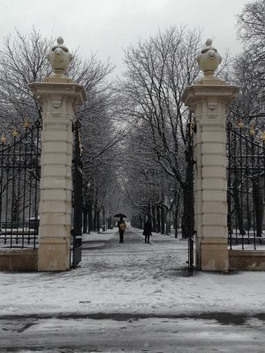 Parc Bastions dans la neige. C'est trop joli!