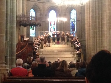 A brass band plays a concert in the cathedral. Only stumbled upon it by chance, really!