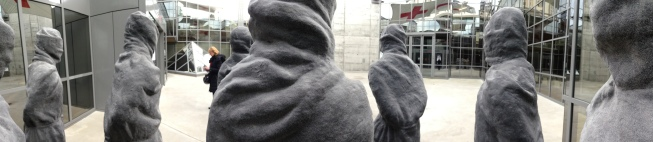 'The Petrified Ones' - a sculpture outside the Red Cross Museum. This is me standing in the middle of them. Thoroughly creepy - I kept expecting them to move at any moment - but I still think they look like something out of Assassin's Creed.