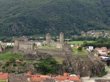 The Castelgrande from the Sasso Corbaro